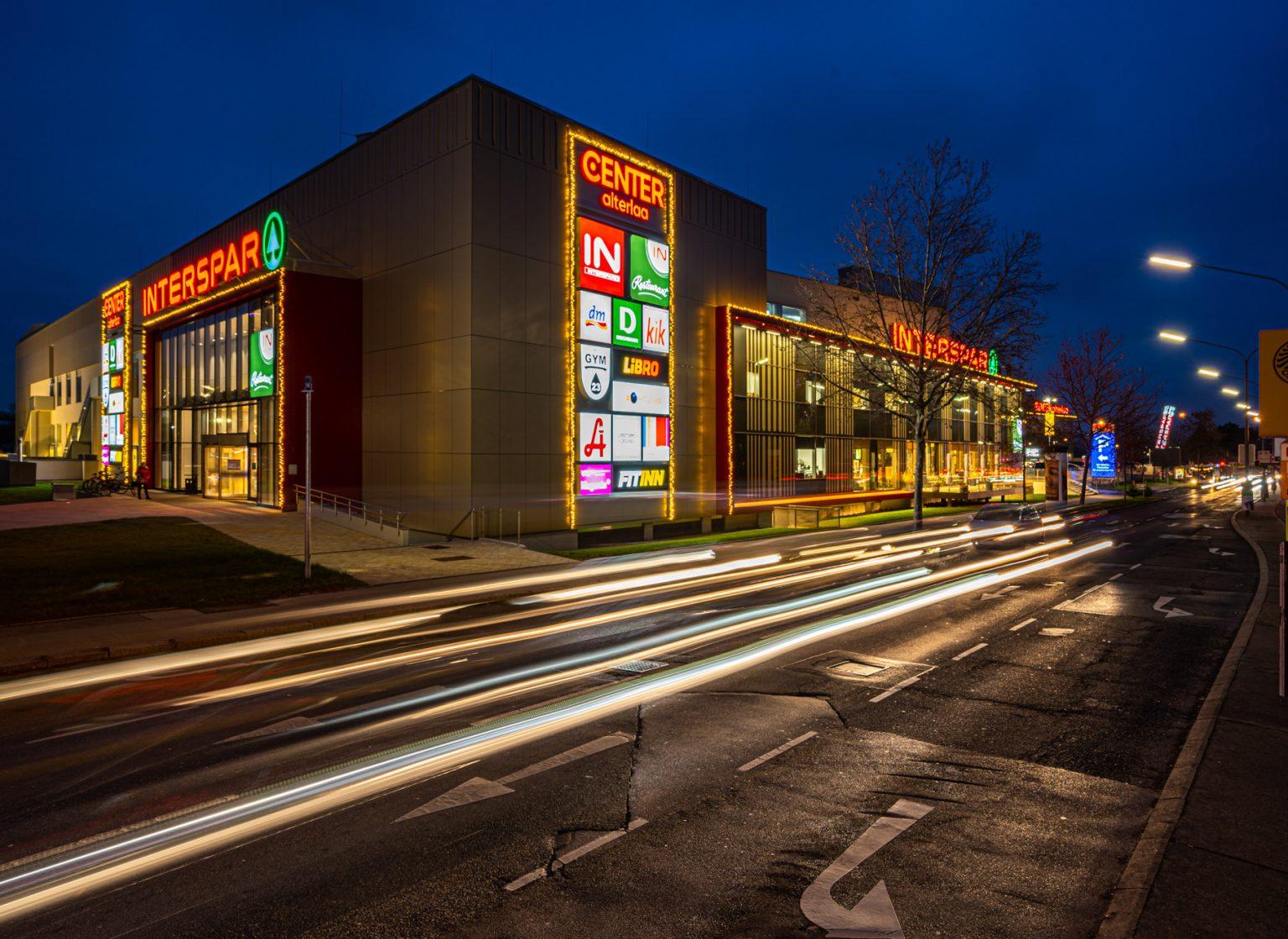 Außenansicht der Center Alterlaa in Wien, Österrreich