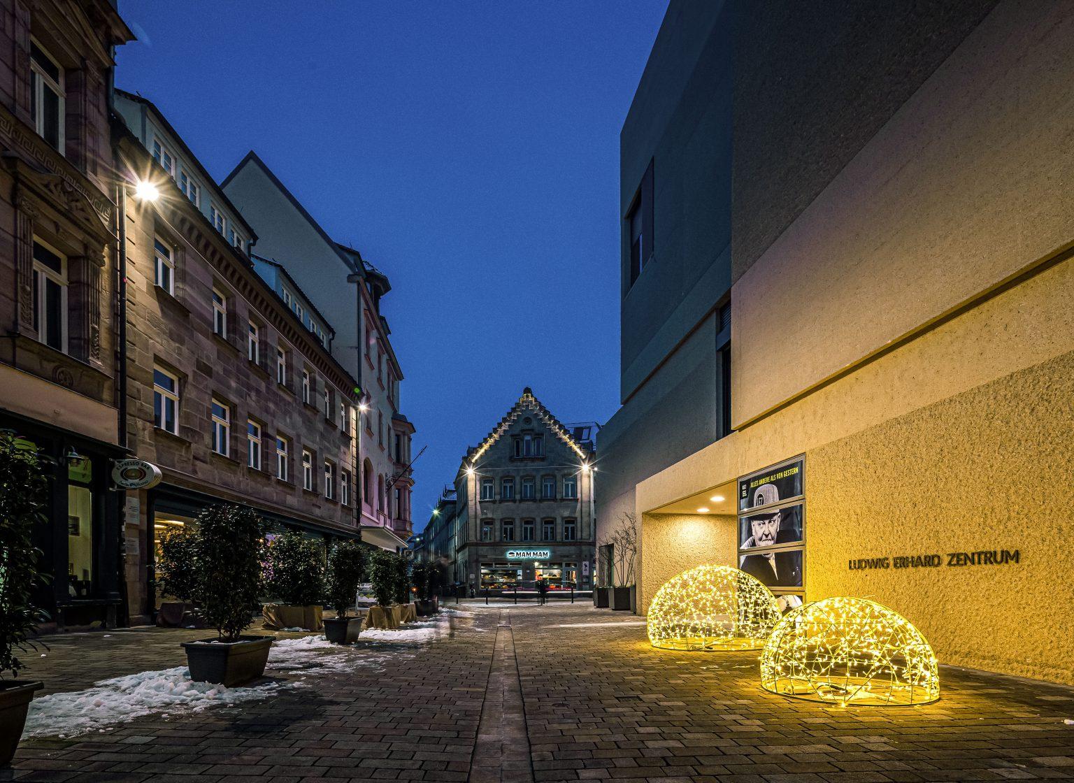 Weihnachtsbeleuchtung der Stadt Fürth, Deutschland